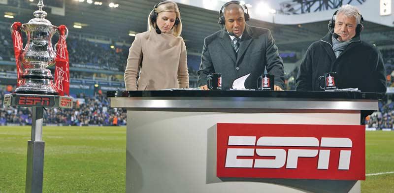 שידורי ספורט בערוץ ESPN בו שולטת דיסני. / צילום: רויטרס  AI Project