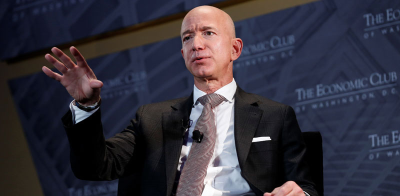 Jeff Bezos  photo: Joshua Roberts, Reuters