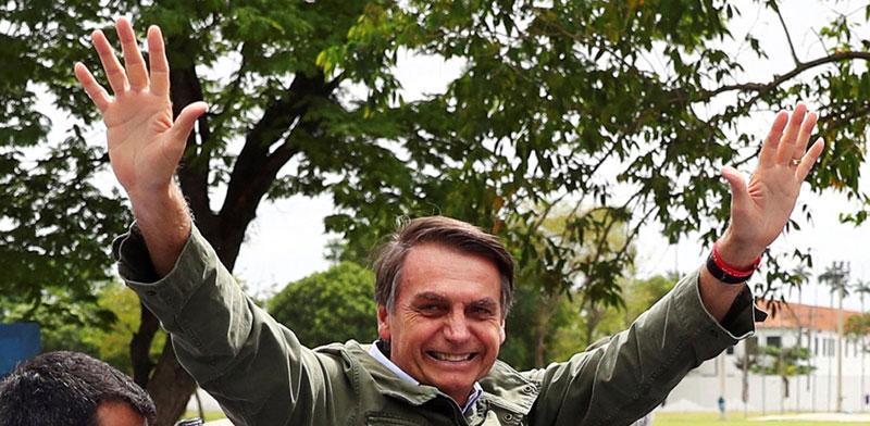 ז'איר בוסונארו /צילום: רויטרס, Pilar Olivares