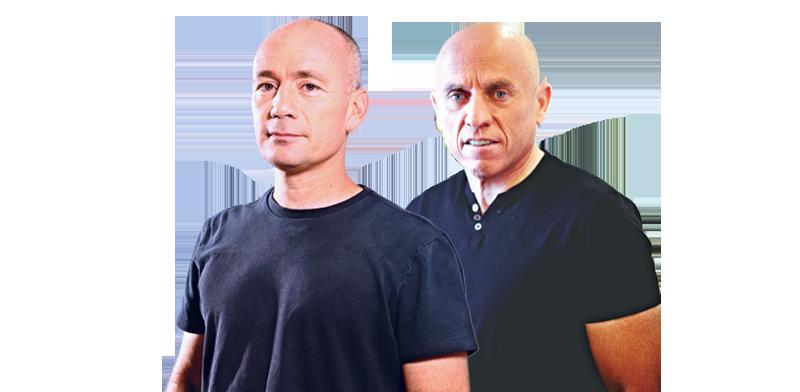 """יוסי ורשבסקי, מנכ""""ל רשת, ואבי ניר, מנכ""""ל קשת / צילום: גיא קרן ורונן אקרמן"""