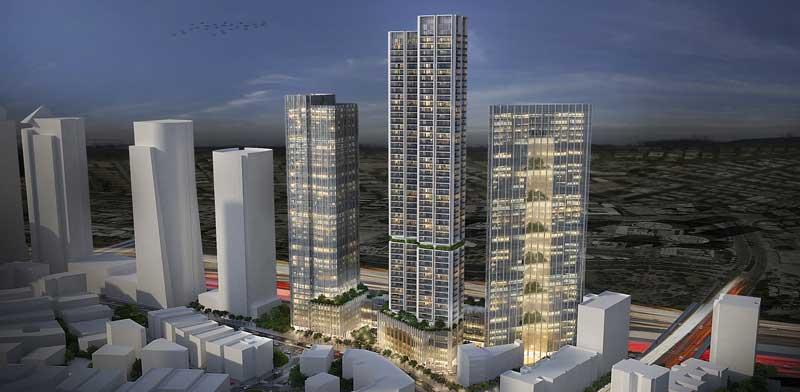 הדמיית מתחם הבורסה/ הדמייה: ישר אדריכלים ודירה להשכיר
