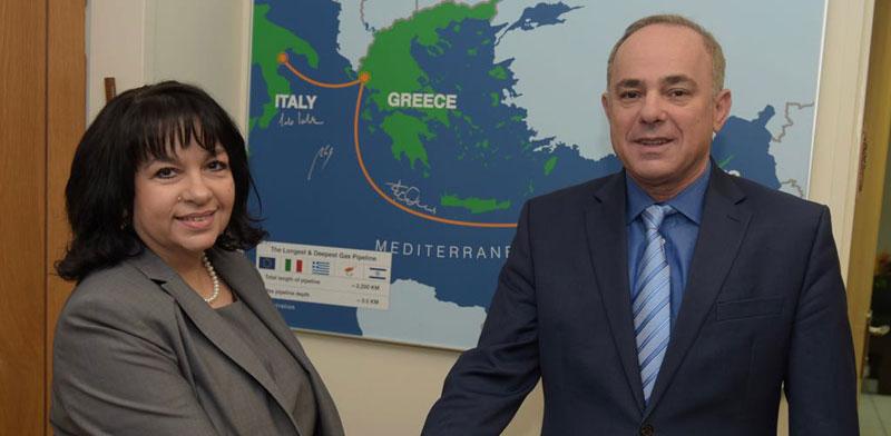 Israeli and Bulgarian Energy Ministers Photo: Shlomi Amsalem