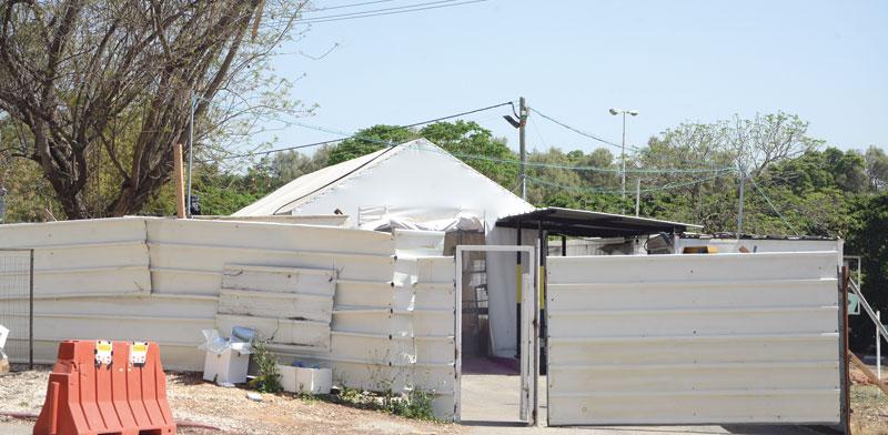 אוהל הנתיחות בראשון לציון/ צילום: איל יצהר