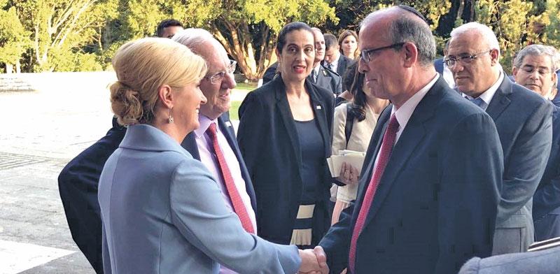 Yossi Weitz meets Croatian president Photo: IAI