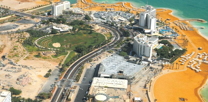 אזור המלונות בים המלח / צילום: תמר מצפי