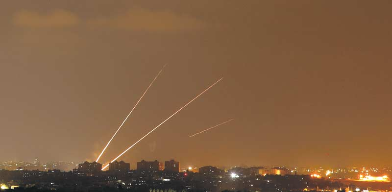 Missiles from Gaza