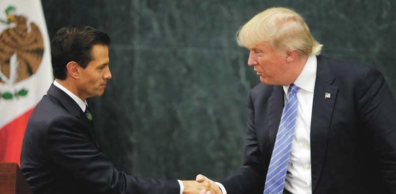 טראמפ ונשיא מקסיקו היוצא, אנריקה פנה נייטו /צילום: רויטרס  Henry Romero