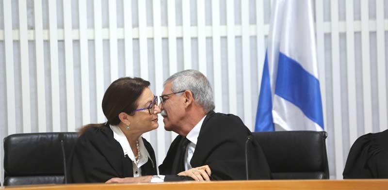 השופט אורי שהם ונשיאת העליון אסתר חיות / צילום: יוסי זמיר