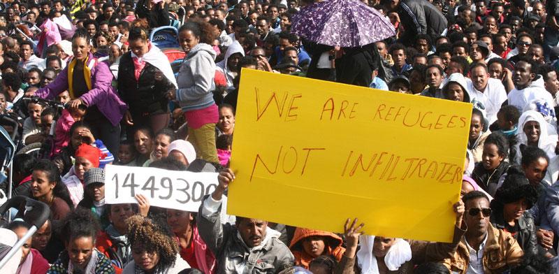 הפגנת זרים נגד גירוש / צילום: רוני שיצר