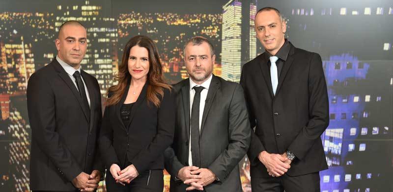 צוות חדשות ערוץ 20: אלירן טל, שמעון ריקלין, דנה סומברג ונועם אמיר / צילום: נדב כהן יונתן