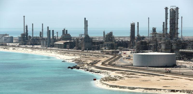 מתקנים של ארמקו הסעודית./ צילום: רויטרס Ahmed Jadallah