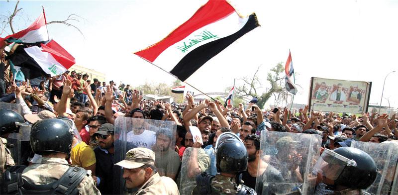 הפגנות בעיראק / צילום: רויטרס