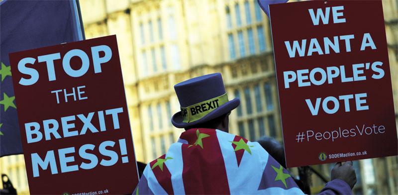 מפגין נגד הברקזיט./ צילום: רויטרס Simon Dawson