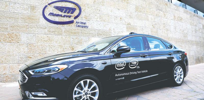 ניסוי רכב אוטונומי של מובילאיי בירושלים / צילום: רויטרס, Ronen Zvulun