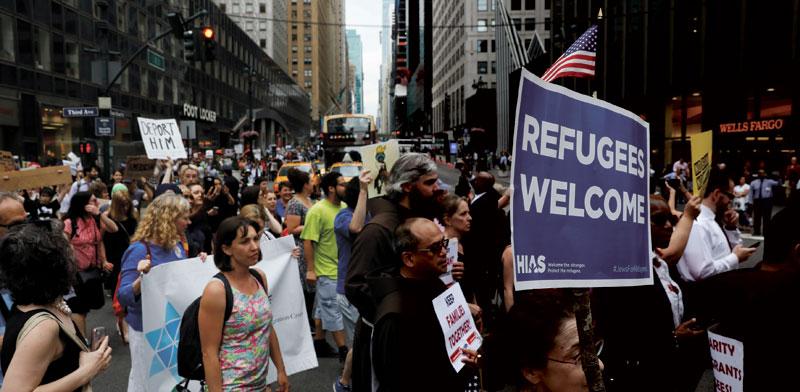 הפגנה נגד מדיניות ההגירה של טראמפ / צילום: רויטרס
