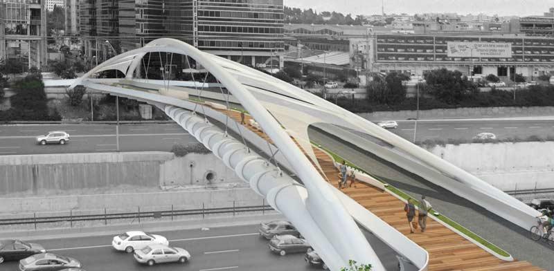 הדמיית גשר יהודית/ הדמיה: חן אדריכלים