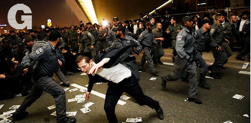 הפגנה בירושלים נגד חוק הגיוס /  צילום: רויטרס - Ronen Zvulun