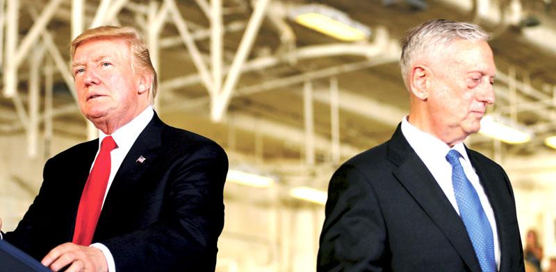 דונלד טראמפ, ג'יימס מאטיס / צילום: רויטרס