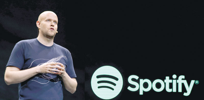 Spotify CEO Daniel Ek photo: Shannon Stapleton, Reuters