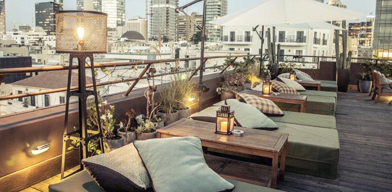הגג של מלון בראון בתל אביב / צילום: אתר החברה