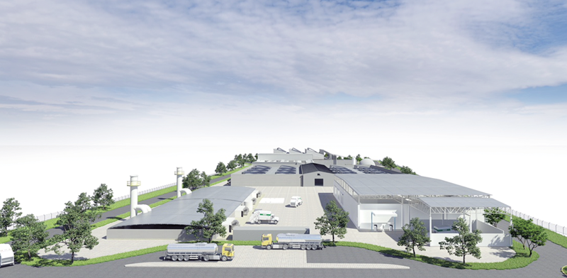 Planned waste recycling plant Photo: PR