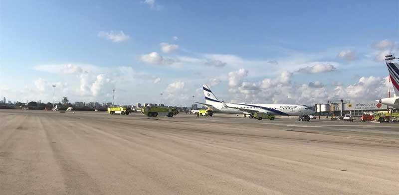 המטוס שנחת בחירום / צילום: רשות שדות התעופה