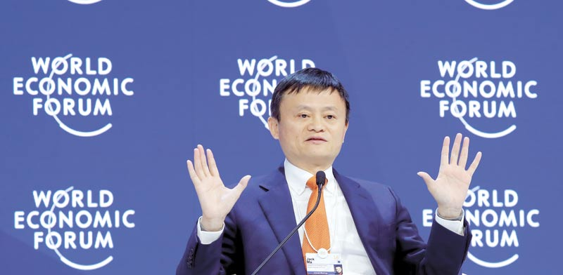 Jack Ma Photo: Reuters Denis Balibouse