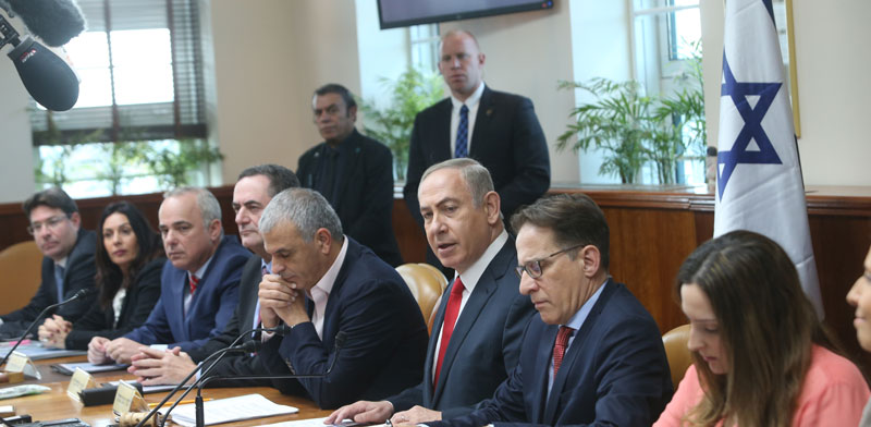 Cabinet meeting Photo: Alex Kolomoisky, Yediot Ahronot