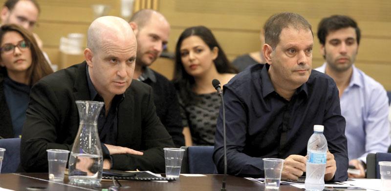 גיל עומר ואלדד קובלנץ, ראשי תאגיד השידור / צילום: דוברות הכנסת - יצחק הררי