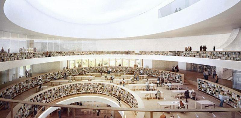הדמייה של הספרייה הלאומית החדשה בירושלים / צילום: יחצ