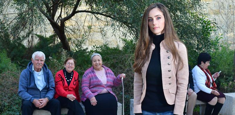 מירב כהן בבית הופמן, מרכז לגיל השלישי בירושלים. המצולמים אינם קשורים לכתבה / צילום: רפי קוץ