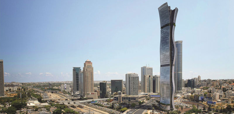 Israel's tallest building Photo: Miloslavsky Architects