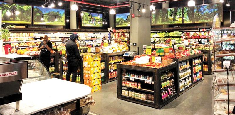 מחלקת המזון הטרי בסופרמרקט שנבנה בבניין / צילום: יחצ