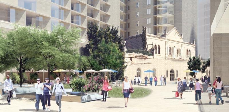 New Downtown Jerusalem plan Photo: Cobb Freed & Partners