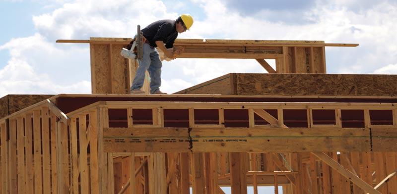 בית חדש בהקמה / צילום: רויטרס, Rick Wilking