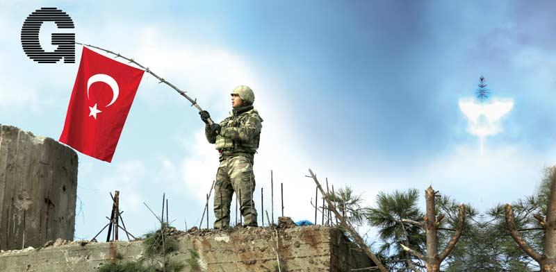 חייל טורקי בחבל אפרין, צפון סוריה / צילום: רויטרס - khalil ashaw