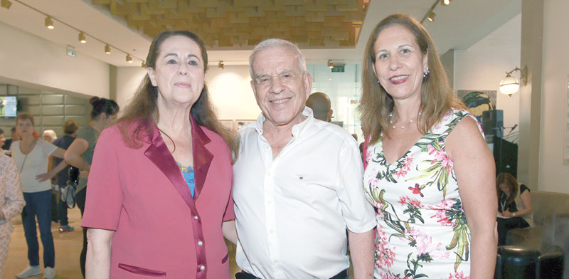 סיגל בראון, אלי פישר ואירית איזקסון / צילום: ענת מוסברג