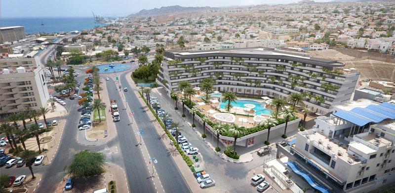 המבנה ה מתוכנן במקום מלון סונסטה באילת  / הדמיה: 3ddesign