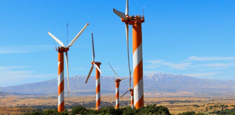 טורבינת רוח ברמת הגולן / צילום: שאטרסטוק