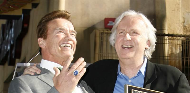 ג'יימס קמרון וארנולד שוורצנגר / צילום: מריו אנזוני, רויטרס