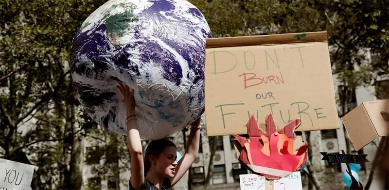 מחאת האקלים בניו יורק / צילום: רויטרס, Shannon Stapleton