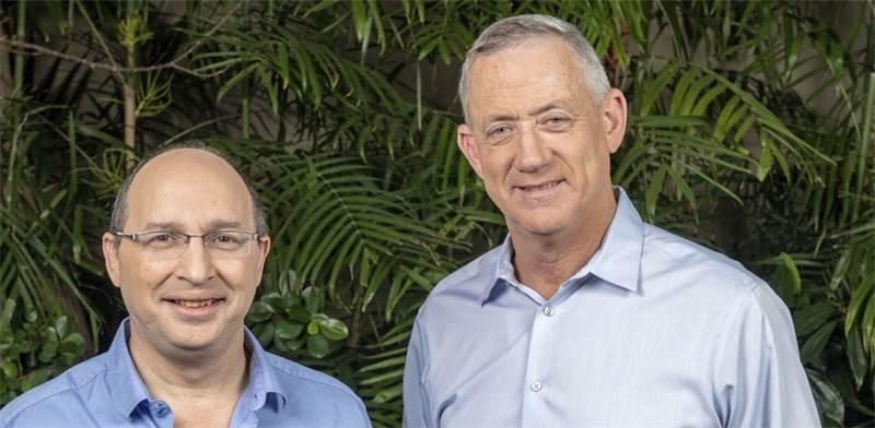 בני גנץ ואבי ניסנקורן / צילום: ישראל הדרי