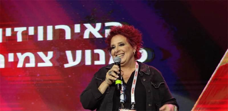"""טלי אשכולי, המפיקה הראשית של אירועי האירוויזיון, בכנס """"ECONOVISION"""" / צילום: שלומי יוסף"""