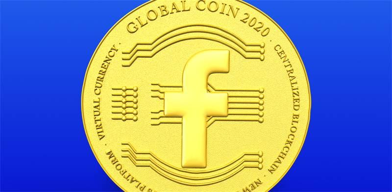 גלובלקוין (Globalcoin) של פייסבוק / הדמיה: Shutterstock