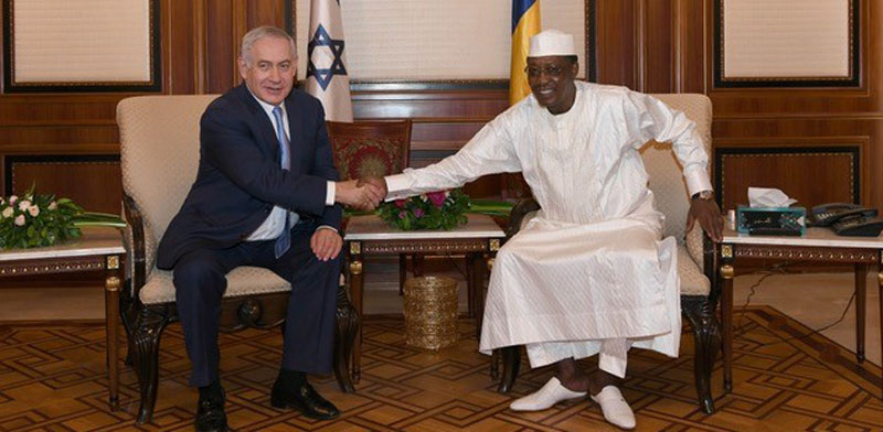 Netanyahu and Chad president Photo: Kobi Gidon GPO