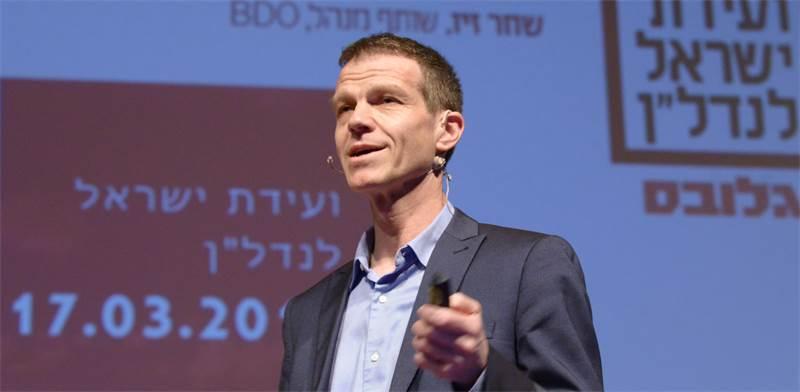 """רו""""ח שחר זיו, שותף מנהל BDO, בוועידת ישראל לנדל""""ן / צילום: איל יצהר"""