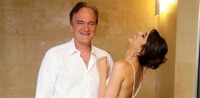 Quentin Tarantino and Daniella Pick / Photo: Amir Meiri, Globes