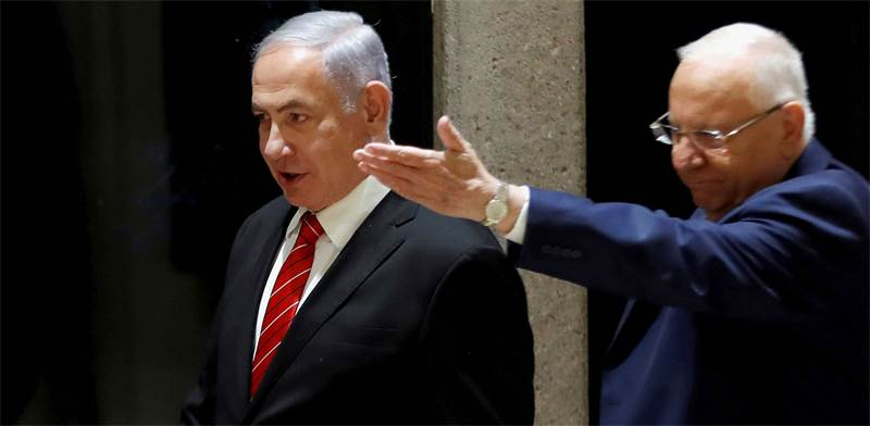 Benjamin Netanyahu and Reuven Rivlin / Photo: Ronen Zevulun, Reuters
