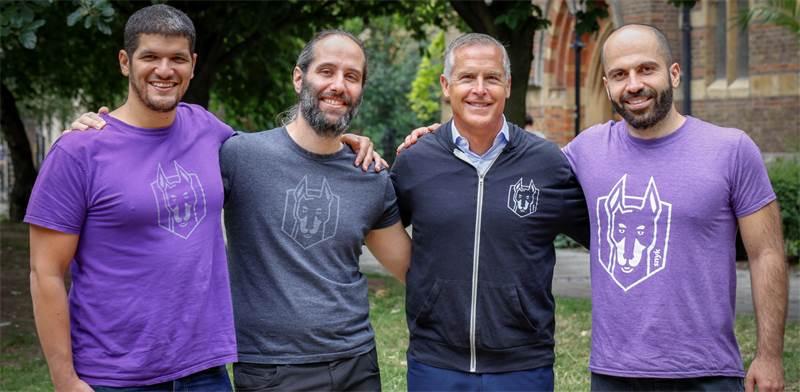 מייסדי סניק: אסף חפץ, דני גרנדר, פיטר מק'יי וגיא פודחרני / צילום: Snyk