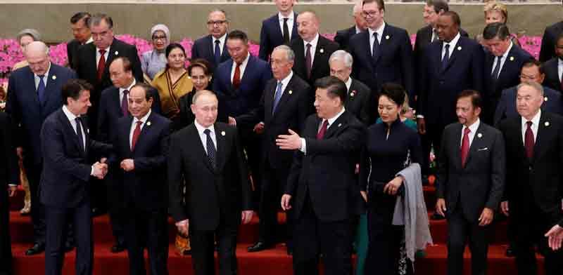 נשיא סין שי נשיא רוסיה פוטין ומנהיגים נוספים  בבייג'ין   / צילום: רויטרס Jason Lee